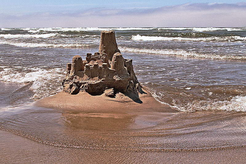 Sandcastle in a beach