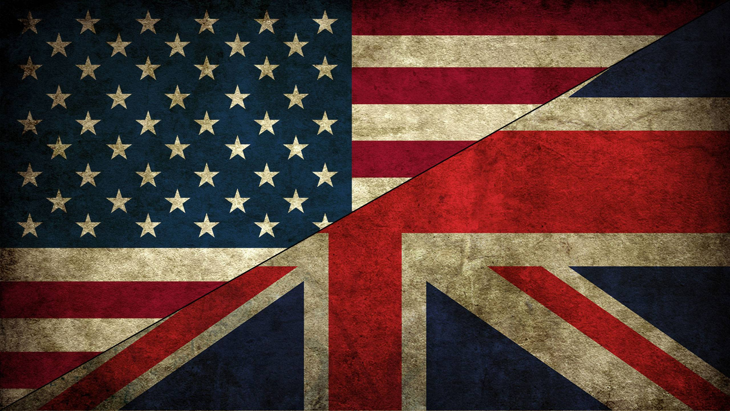 UK-USA flags