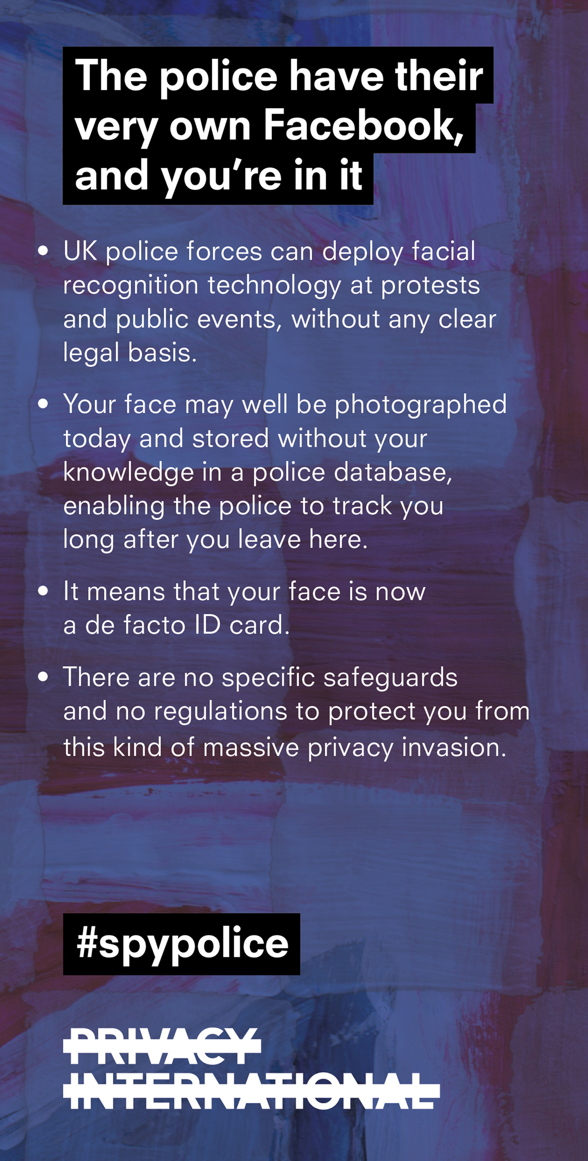 Facial recognition card
