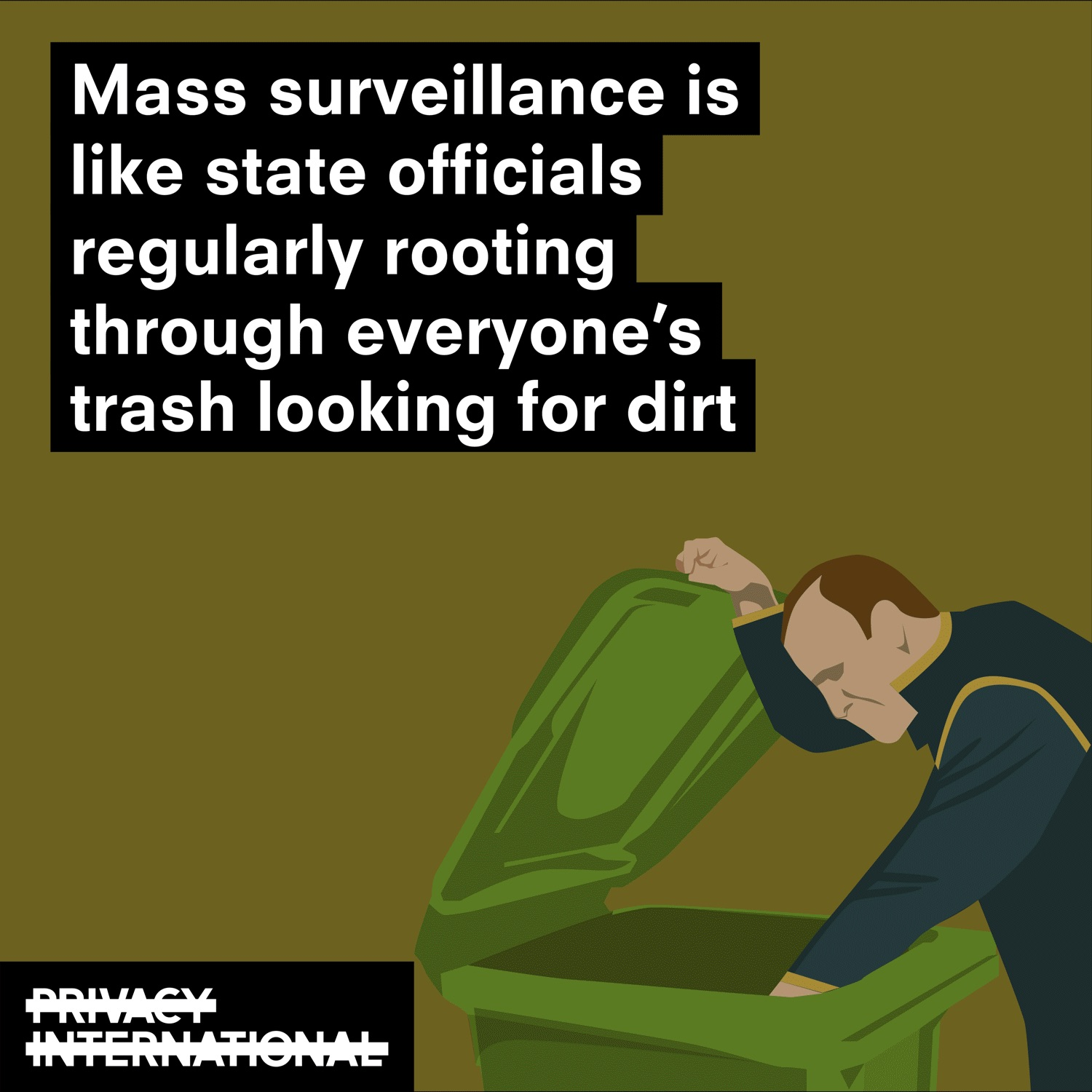 mass surveillance is look state officials rooting through your bins