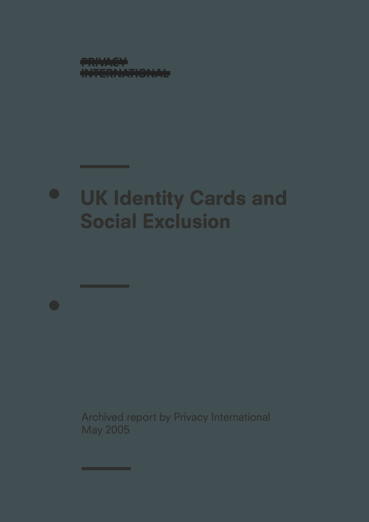 UK Identity Cards and Social Exclusion