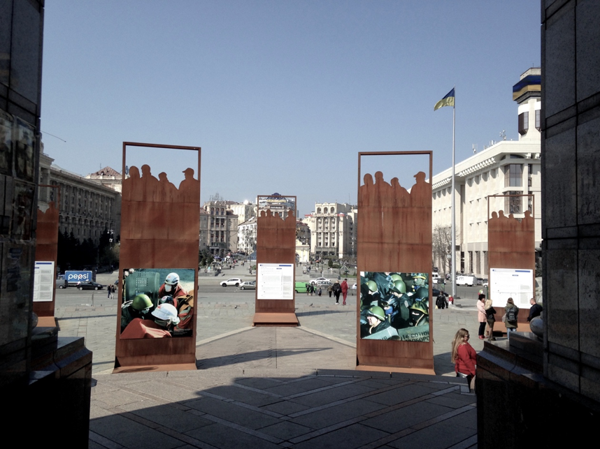 Image taken in Maidan Nezalezhnosti at the Revolution of Dignity memorial.