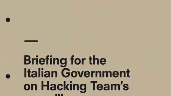 Briefing For The Italian Government On Hacking Team's Surveillance Exports