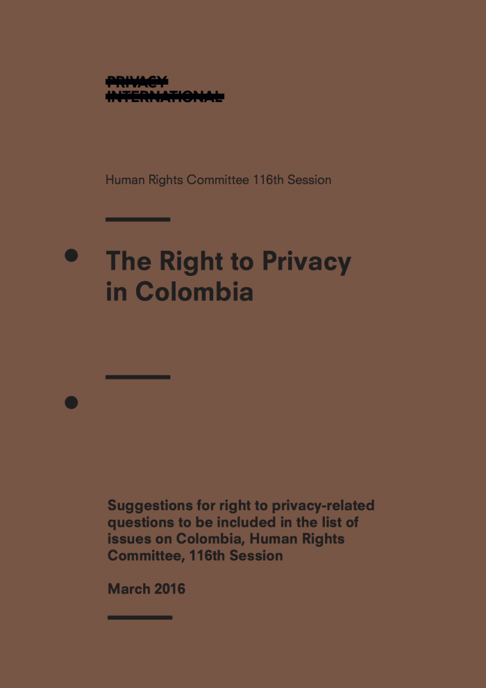 The Right to Privacy in Colombia