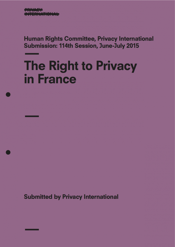 The Right to Privacy in France