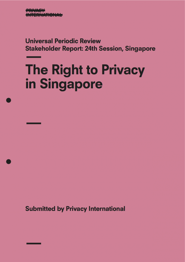 The Right to Privacy in Singapore