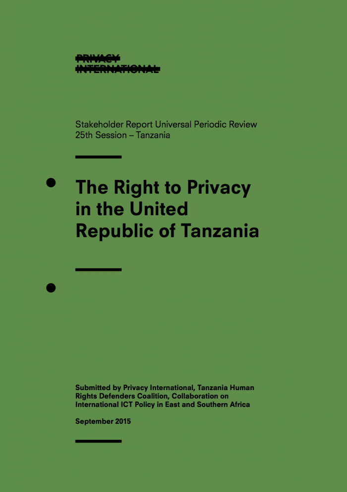 The Right to Privacy in Tanzania