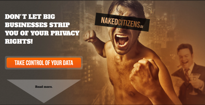 Naked citizens campaign text