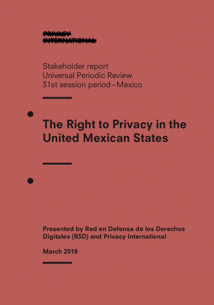The Right to Privacy in the United Mexican States