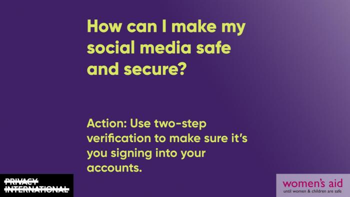 How can I make my social media safe and secure?