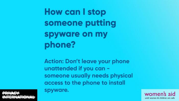 How can I stop someone putting spyware on my phone?