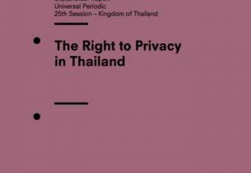 The Right to Privacy in Thailand