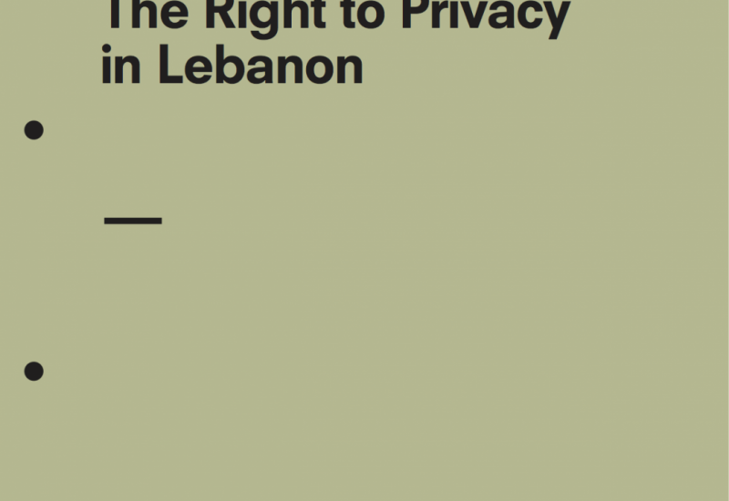 The Right to Privacy in Lebanon