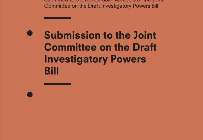 Privacy International Submission to the Joint Committee on the Draft Investigatory Powers Bill