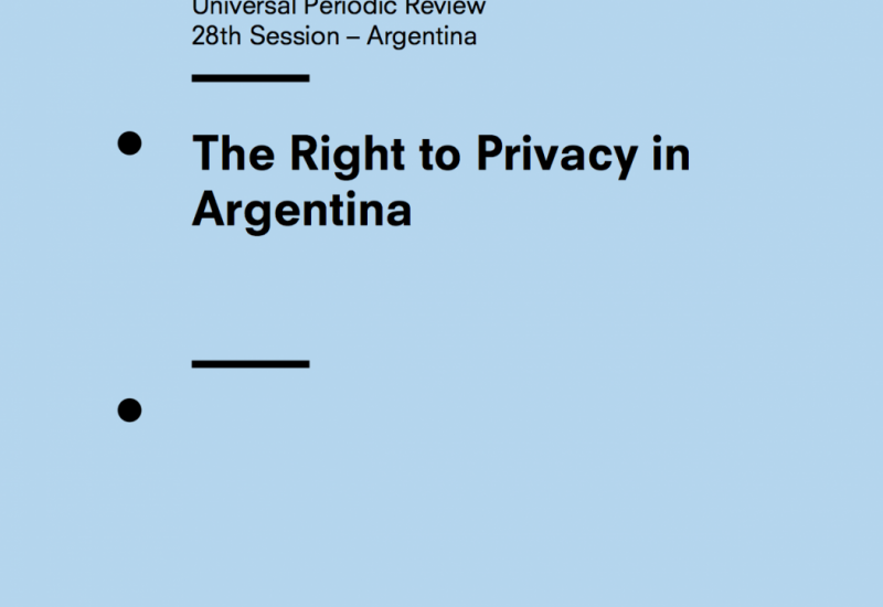The Right to Privacy in Argentina: UPR 28th Session