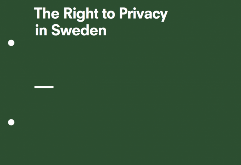The Right to Privacy in Sweden