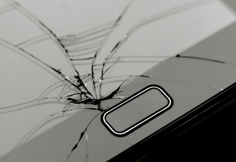 cracked phone screen