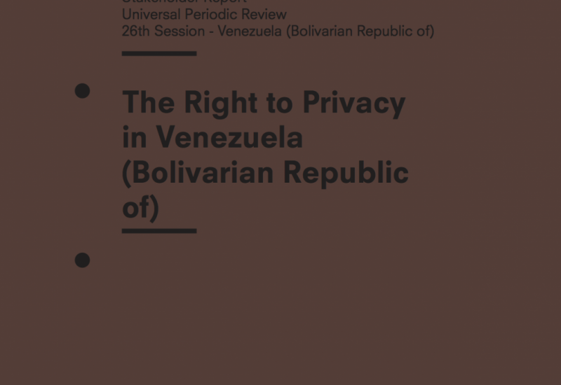 The Right to Privacy in Venezuela (Bolivarian Republic of)