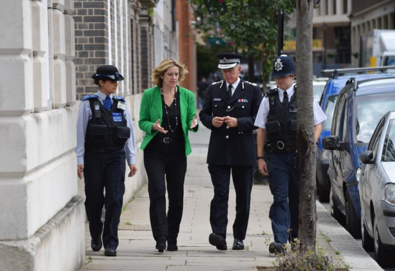 UK Home Secretary Amber Rudd and Met Police Commissioner Sir Bernard Hogan-Howe