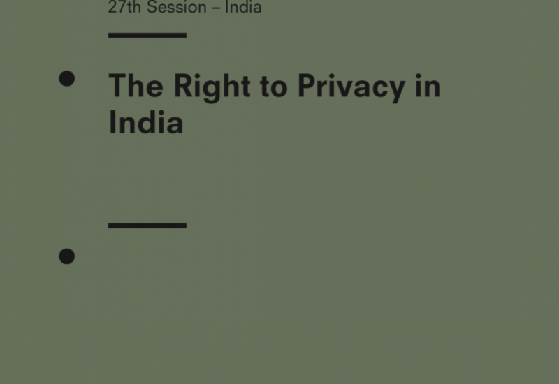 The Right to Privacy in India