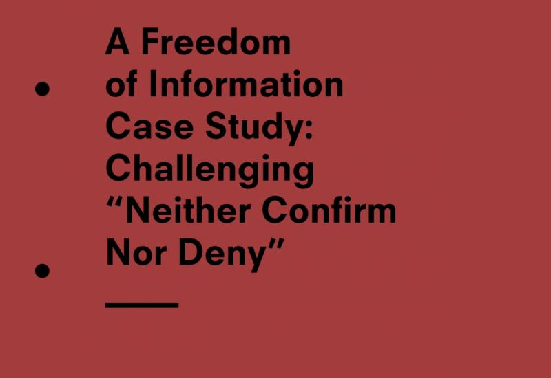 FOI case study report cover