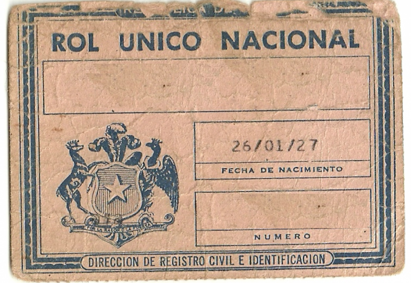 Old Chilean ID card