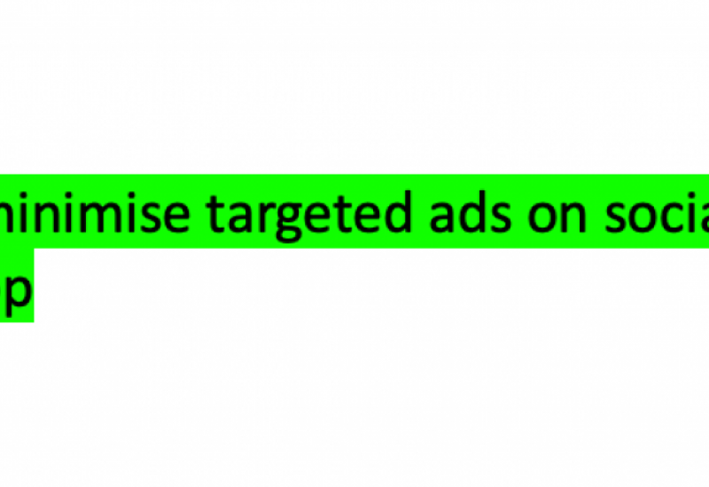 How to minimise targeted ads on social media: WhatsApp