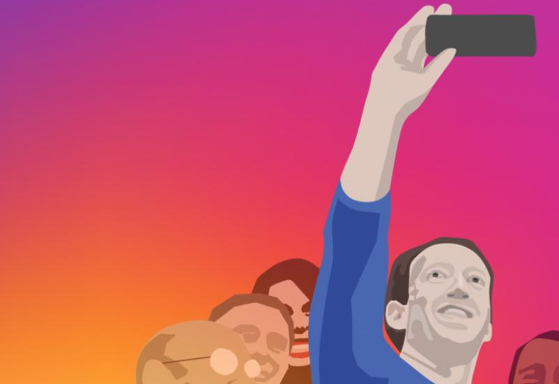Mark Zuckerberg selfie illustration