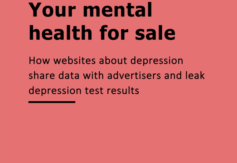 your mental health for sale report cover