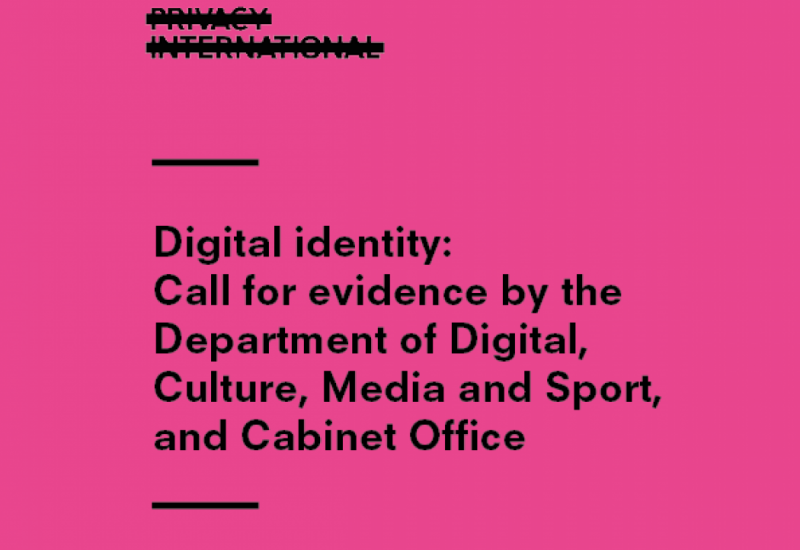 Digital Identity Call for Evidence Cover