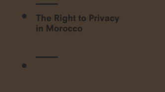 The Right to Privacy in Morocco
