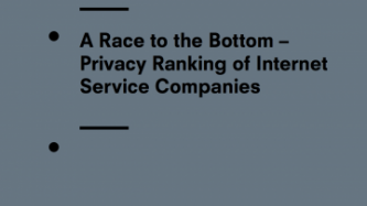 A Race to the Bottom – Privacy Ranking of Internet Service Companies