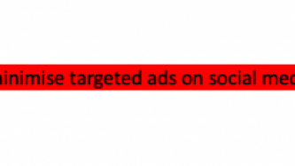 How to minimise targeted ads on social media: Uber