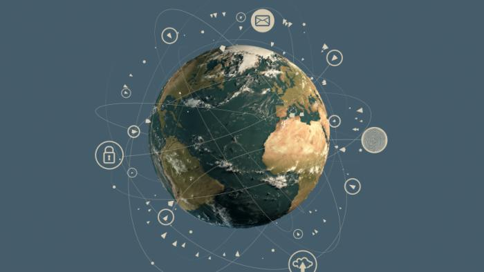 A picture of the planet portraying the global impact of the topic