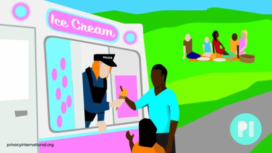 police serving ice cream