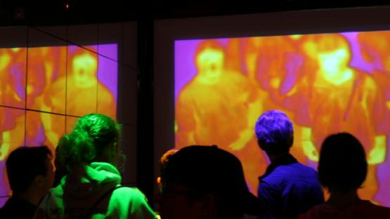 Thermographic camera display at the Museum of Science and Industry, Chicago