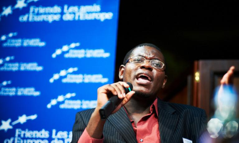 Bright Simons, one of the people quoted in the article, speaking at a conference