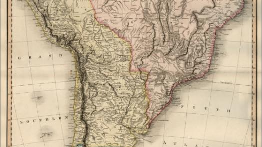 Map of South America