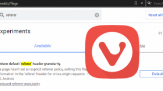HTTP referer settings Vivaldi
